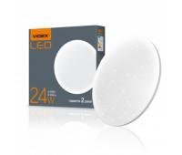 LED светильник настенно-потолочный VIDEX 24W 4100K Звёздное небо