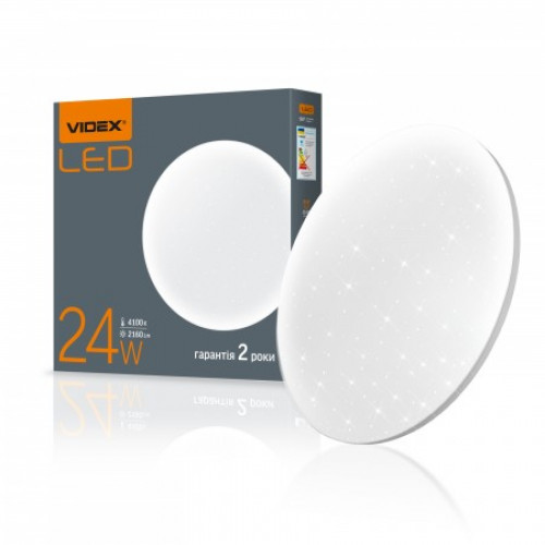 LED светильник настенно-потолочный VIDEX 24W 4100K 220V Звёздное небо
