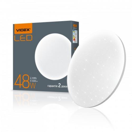 LED светильник настенно-потолочный VIDEX 48W 4100K 220V Звёздное небо