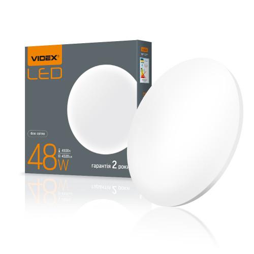 LED светильник настенно-потолочный круглый VIDEX 48W 4100K Матовий