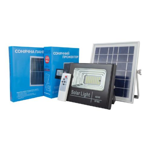 Прожектор на солнечной батарее с пультом Alltop 40W 0837A40-01 (S0837ALT40WPR)