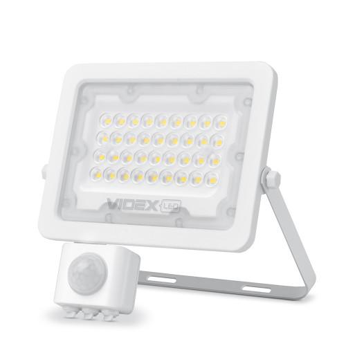 LED прожектор VIDEX F2e 30W 5000K с датчиком движения и освещенности