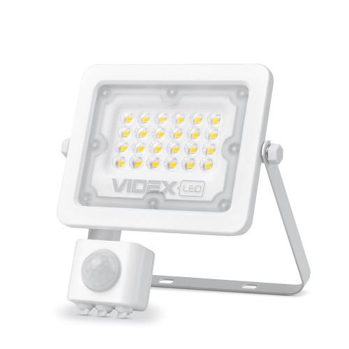 LED прожектор VIDEX F2e 20W 5000K с датчиком движения и освещенности