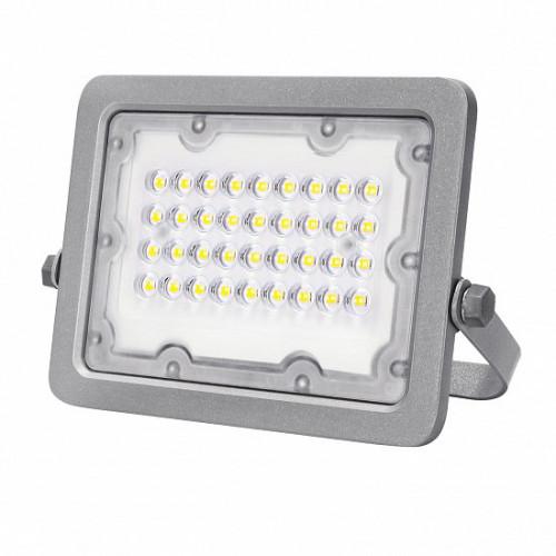 Светодиодный EUROLAMP LED SMD Прожектор cерый с радиатором 30W 5000K