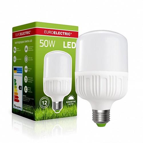 Высокомощная лампа EUROELECTRIC 50W E40 6500K