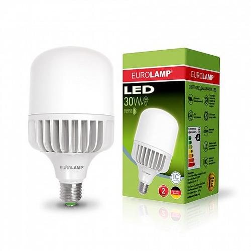 Высокомощная лампа EUROELECTRIC 30W E27 6500K Pro