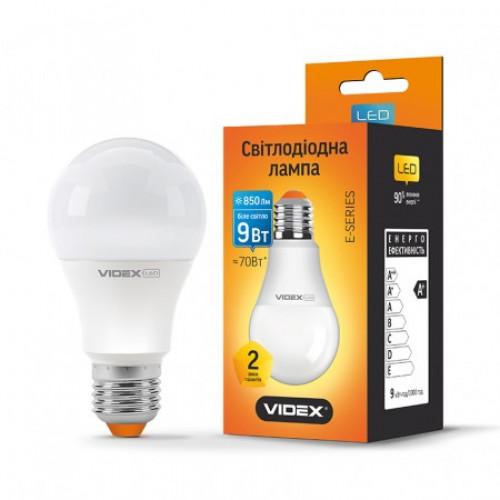 LED лампа A60e 9W E27 3000K 220V