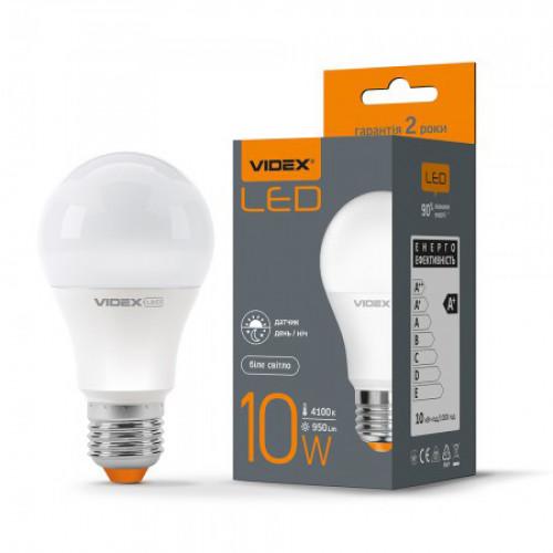 LED лампа VIDEX A60e 10W E27 4100K 220V с сенсором света