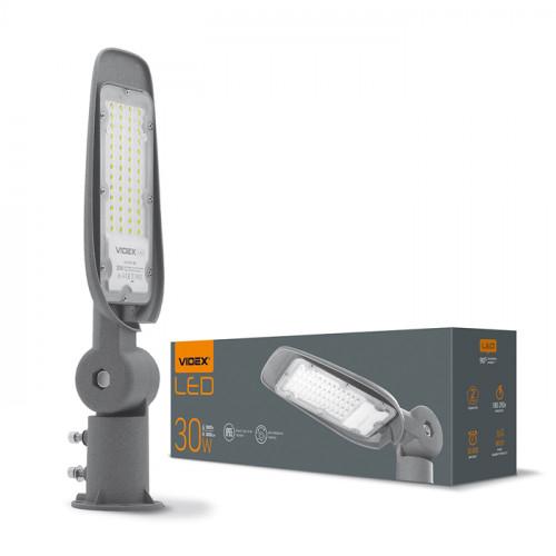 LED фонарь уличный VIDEX (поворотный) 30W 5000K 220V Серый (VL-SLE14-305)