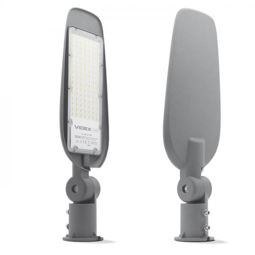 LED фонарь уличный VIDEX (поворотный) 50W 5000K 220V Серый (VL-SLE14-505)