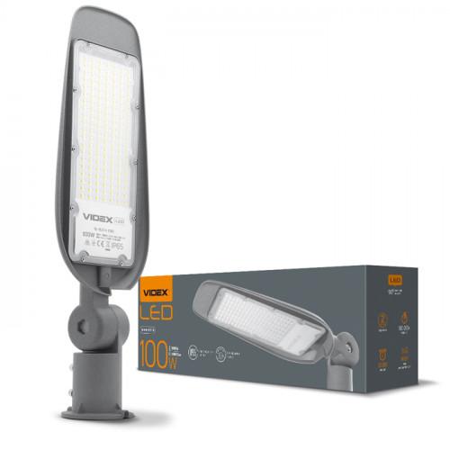LED фонарь уличный VIDEX (поворотный) 100W 5000K Серый (VL-SLE14-1005)