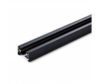 Шинопровод для крепления и питания трековых светильников VIDEX 3м чорный