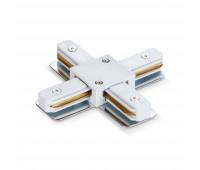 Соединитель для шинопроводов крестообразный VIDEX белый
