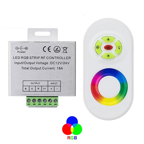 Контроллер с сенсорным пультом для светодиодных лент RGB