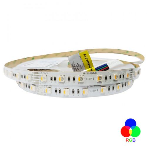 Светодиодная лента 5050-60-IP20-RGB/WW-12-24 RD0260AC-A 3000K RISHANG
