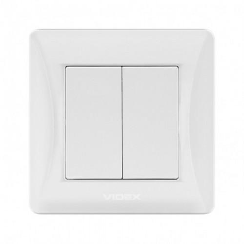 VIDEX BINERA Выключатель белый 2кл (VF-BNSW2-W)
