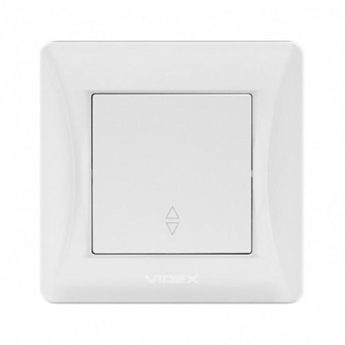 VIDEX BINERA Выключатель белый 1кл проходной (VF-BNSW1P-W)