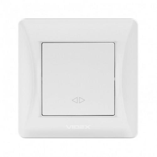 VIDEX BINERA Выключатель белый 1кл промежуточный (VF-BNSW1I-W)