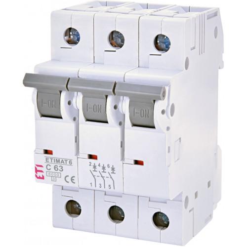 Автоматический выключатель ETIMAT 6 3p C63 (2145522)