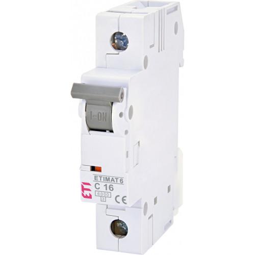 Автоматический выключатель ETIMAT 6 1p C16 (2141516)