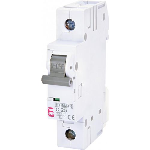 Автоматический выключатель ETIMAT 6 1p C25 (2141518)